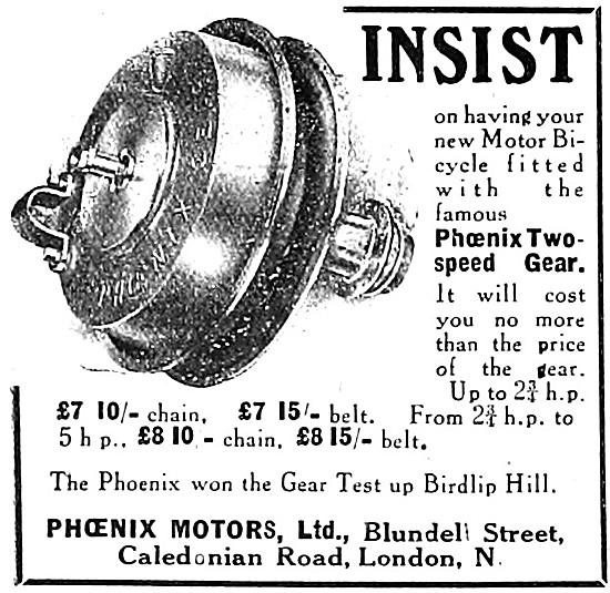 Phoenix Two Speed Motor Cycle Gear