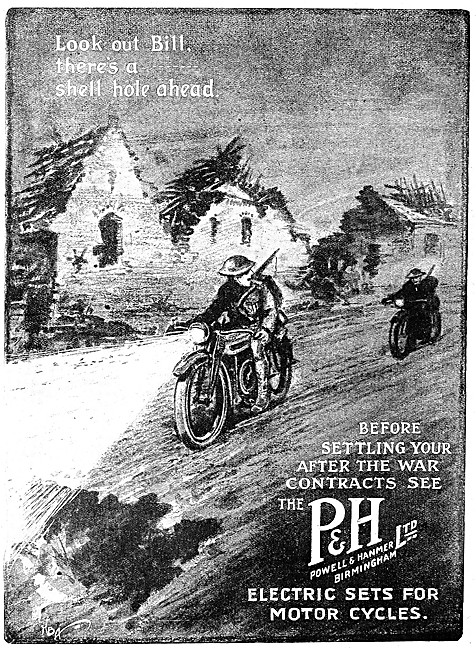 Powell & Hammer Motor Cycle Electrical Lighting Sets