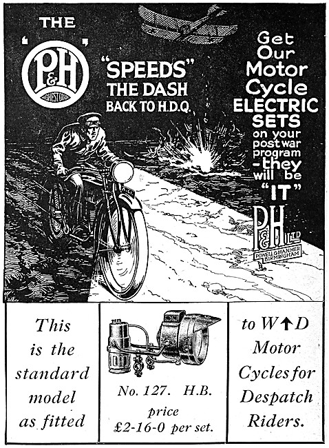 Powell & Hammer P & H Motor Cycle Electrical Equipment