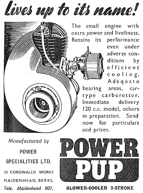 Power Specialities Power Pup Engine 120 cc