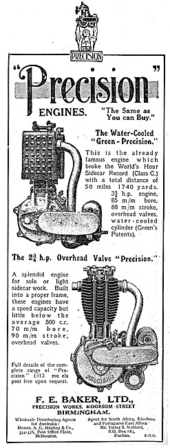 Precision Engines - Water Cooled Green-Precision Engine 1912