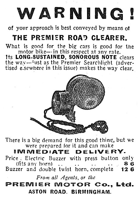 Premier Motor Cycles Road Clearer Horn