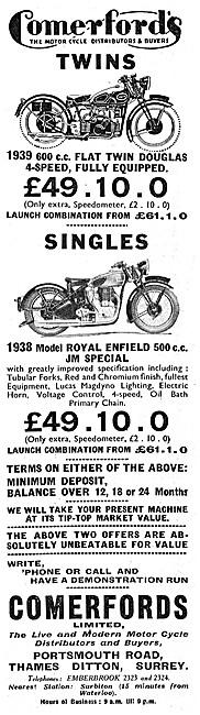 Comerfords  AJW Motor Cycle Sales & Parts Stockists