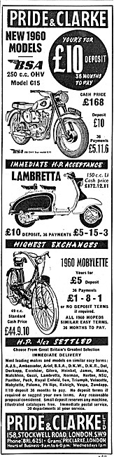 Pride & Clarke Motor Cycle Sales - Mobylette 50 cc