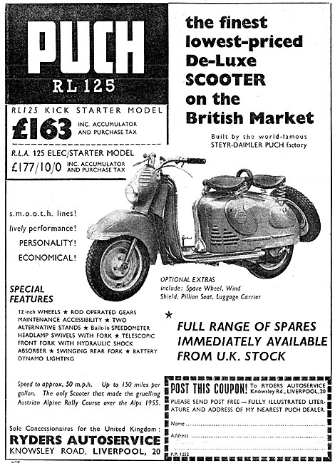 Puch RL 125 Motor Scooter
