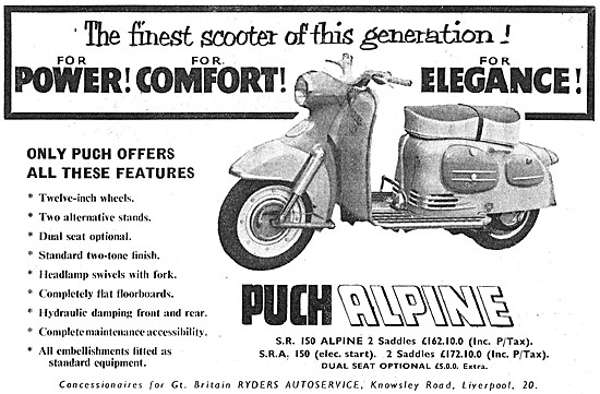 Puch Alpine Motor Scooter 1959