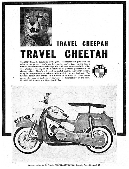 Puch Cheetah Motor Scooter