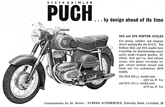 Puch SGS Motor Cycles