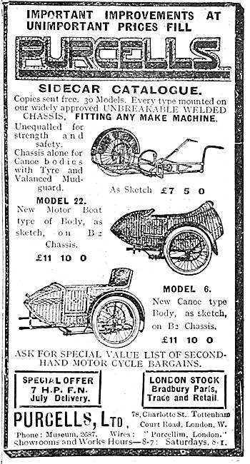1914 Purcell Sidecars