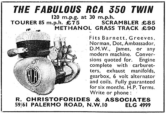 RCA 350 Twin Motor Cycle Engine (Additional Models)