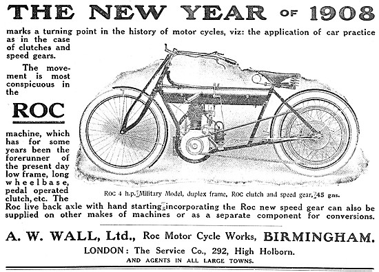1908 ROC Motor Cycles - ROC Military Motor Cycle