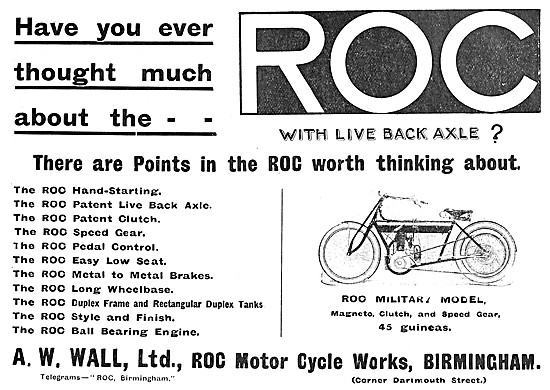 1908 ROC Military Motor Cycles