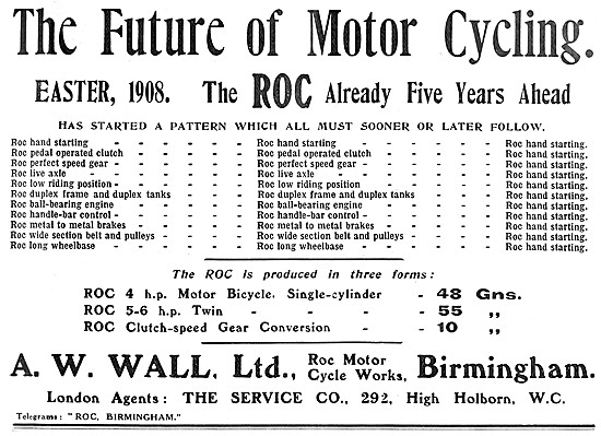 1908 ROC Motor Cycle Features