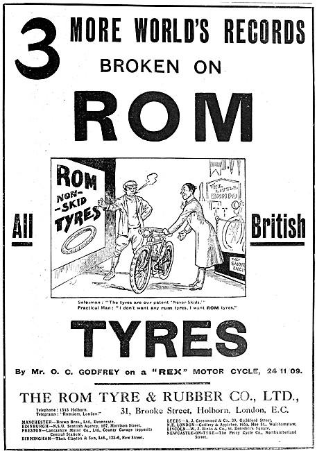 ROM Tyres 1909 Advert