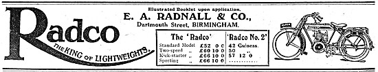The Radco Standard Motor Cycle