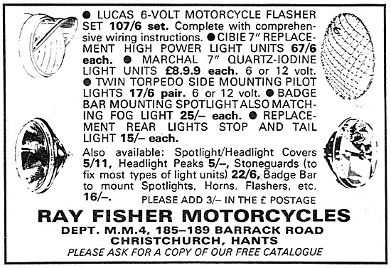 Ray Fisher Motorcycles Parts, Sales & Service