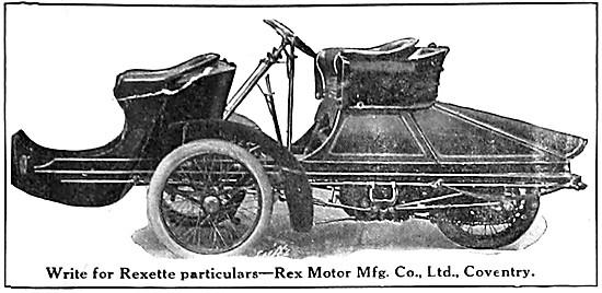 1907 Rex Rexette Tricar