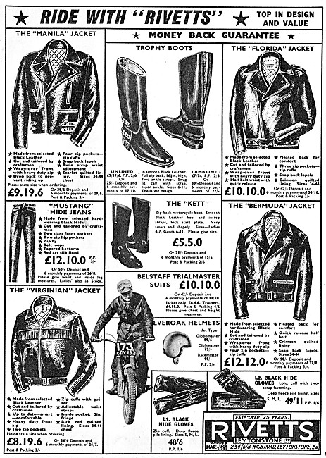 Rivetts Motor Cycle Leathers