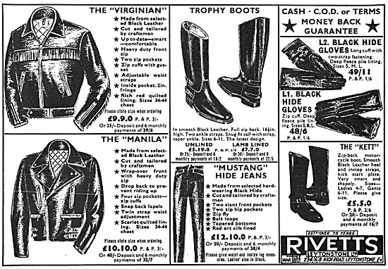 Rivetts Motorcycle Leathers