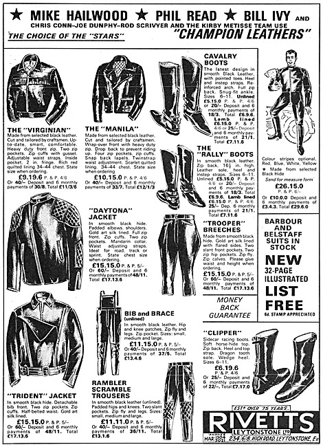 Rivetts Motor Cycle Leather Jackets