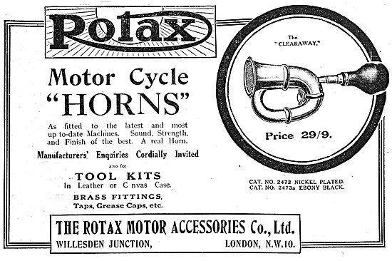 Rotax Electrical Parts - Rotax Clearaway Motor Cycle Horn 1919