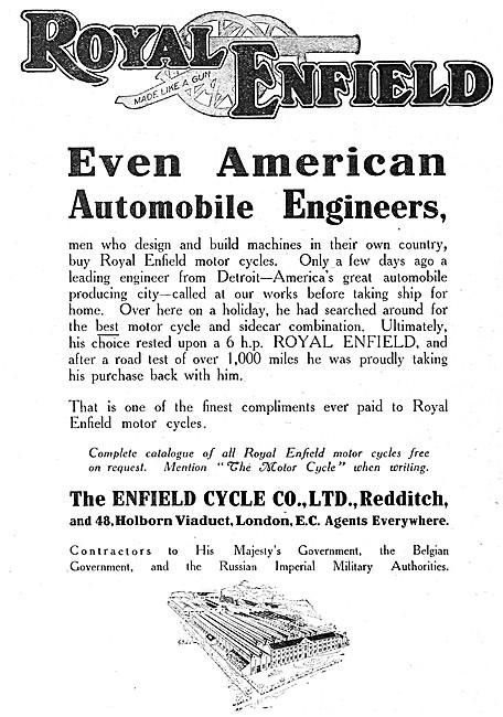 Royal Enfield   Motor Cycles 1915