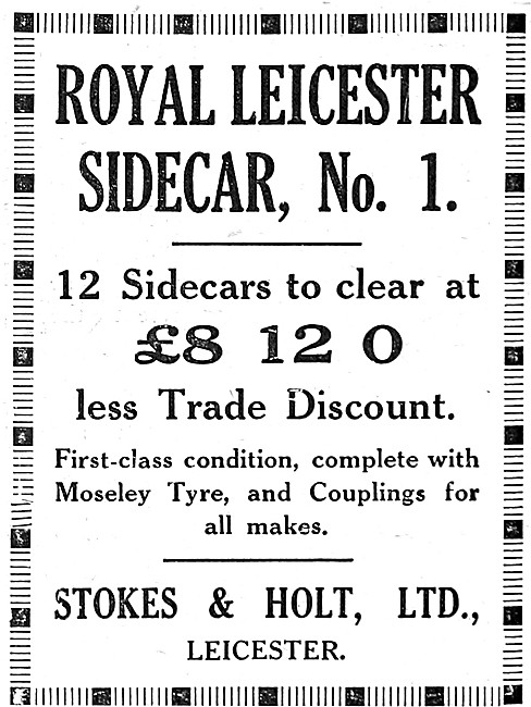 Royal Leicester No 1 Sidecar