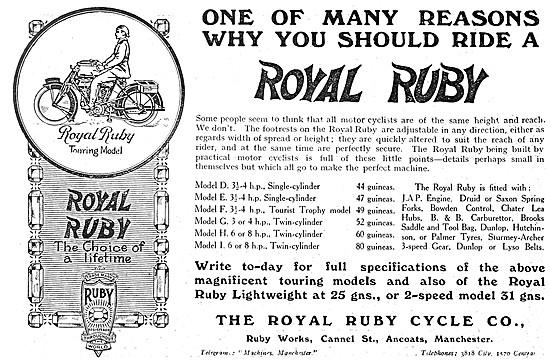 Royal Ruby Motor Cycles 1914