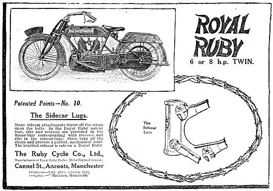 1919 Royal Ruby 6 hp V Twin Motor Cycle