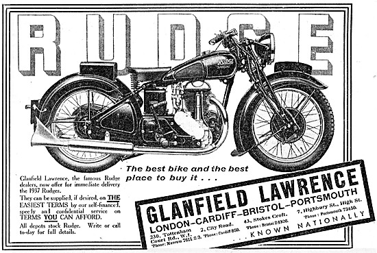 1937 Rudge Motor Cycles - Glanfield Lawrence