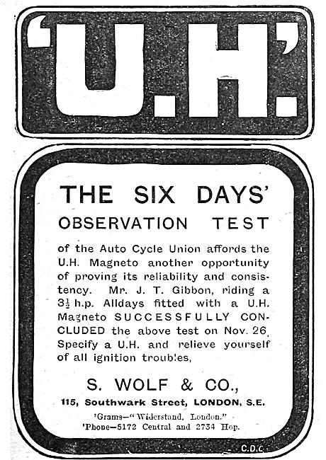 U.H. Motor Cycle Magnetos