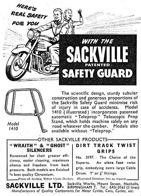 Sackville Motorcycle Safety Guards - Sackville Accessories