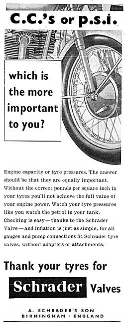 Schrader Tyre Valves