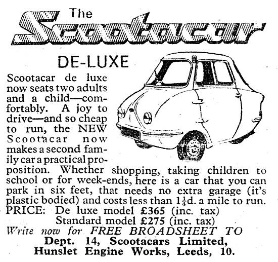 Scootacar De-Luxe 1961
