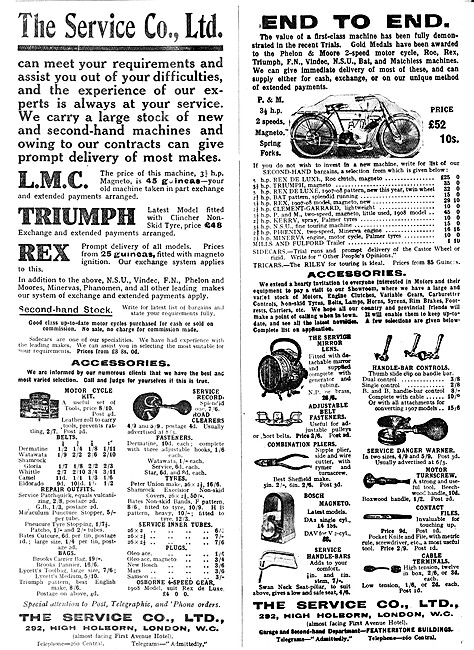 The Service Company Motor Cycle Sales &  Accessories
