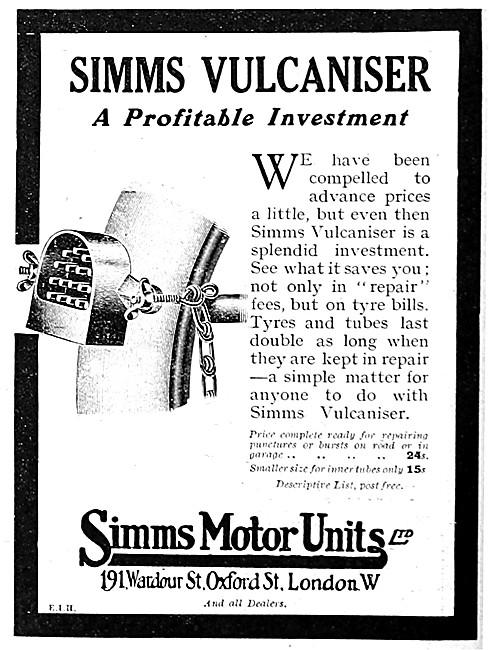 Simms Universal Vulcaniser 1915