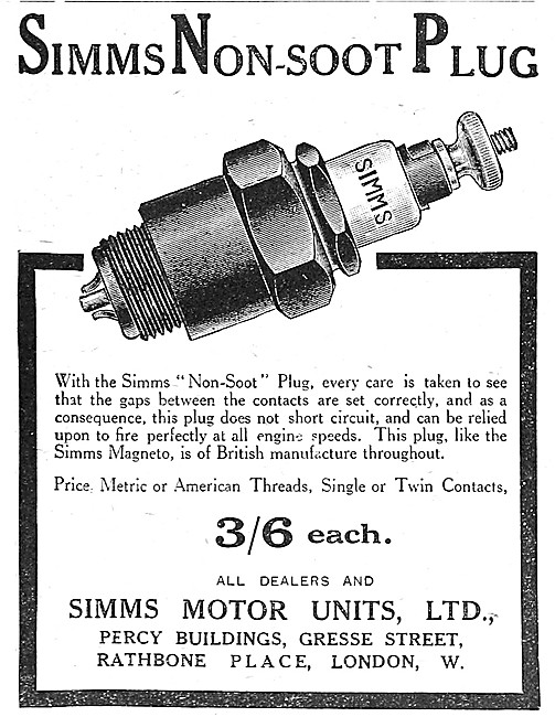 Simms Non-Soot Spark Plugs
