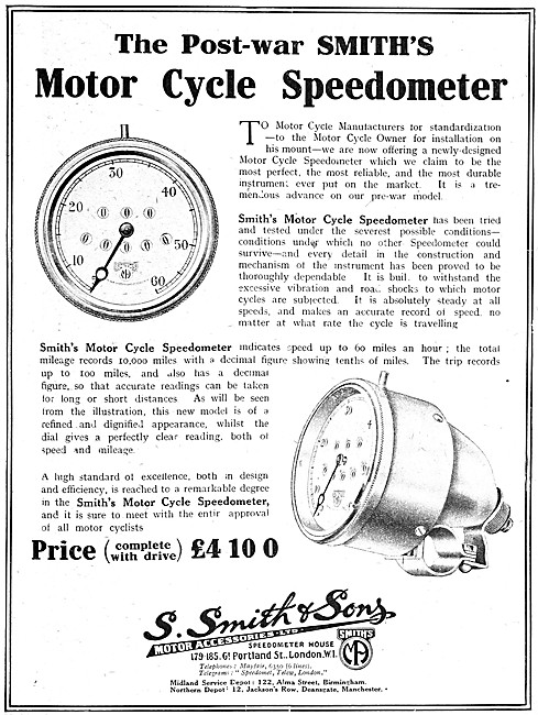 Smiths Motor Cycle Speedometer
