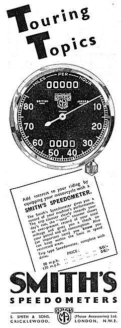 Smiths Motorcycle Instruments - Smiths Speedometers