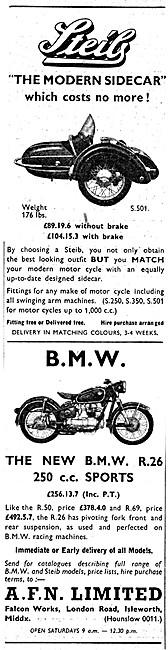 Steib Sidecars - BMW R26 250 cc