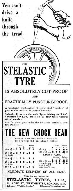 Stelastic Motor Cycle Tyres - Stelastic Chock Bead Tyres