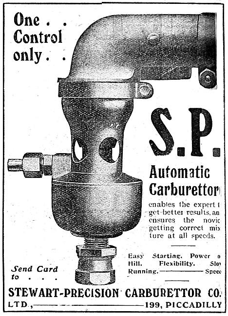 Stewart-Precision Carburetters - 1912 S.P. Automatic Carburetter