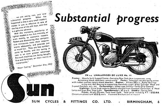 Sun Challenger 200 cc Deluxe Mk III 1954