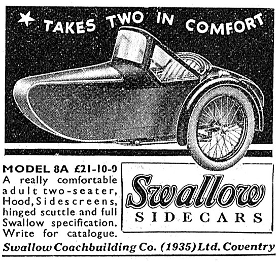 Swallow Sidecars - Swallow 8A Sidecar