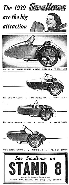 Swallow Sidecars 1938 - Swallow Godiva Coupe Sidecar