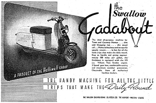 Swallow Gadabout Motor Scooter 125 cc