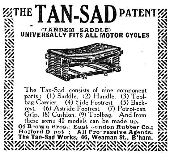 Tan-Sad Motor Cycle Saddles - Tan-Sad Tandem Saddle