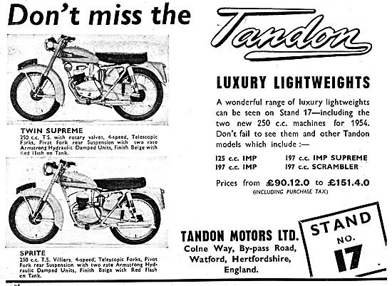 Tandon Twin Supreme 250 cc - Tandon Sprite 250 cc
