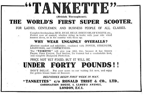 1919 Tankette Super Scooter - Tankette Scooter
