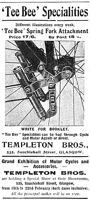 Templeton Tee Bee Motor Cycle Spring Fork Attachment